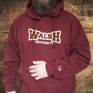 🔥Champion Walsh University Hooded Sweatshirt🔥